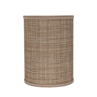 """Link to Aspen Creative Drum (Cylinder) Shaped Spider Construction Lamp Shade in Brown Tweed (8"""" x 8"""" x 11"""") Similar Items in Lamp Shades"""