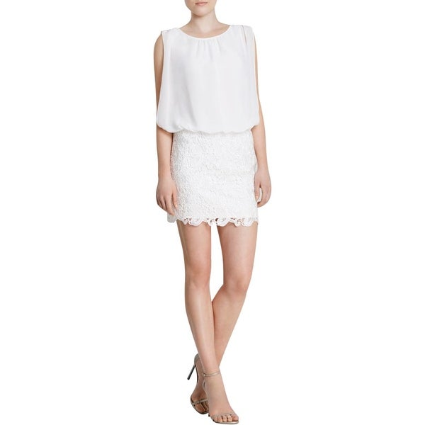 Aidan Mattox Womens Cocktail Dress Lace Sleeveless