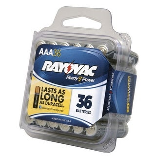 Rayovac Reclosable Pro Pack AAA Alkaline Batteries, Pack of 36
