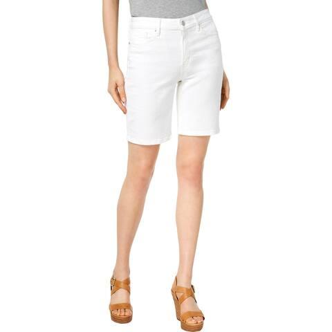 Calvin Klein Jeans Womens Denim Shorts Mid-Rise Daytime