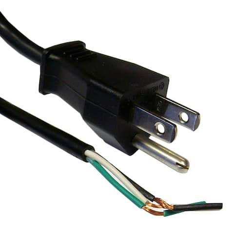 Offex NEMA 5-15P to Standard ROJ Power Cord, Black, 18/3 (18AWG 3 Conductor) SVT, 10 Amp / 125 Volt, 6 foot