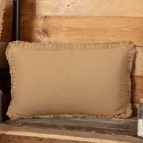 Farmhouse Bedding VHC Cotton Burlap 14x22 Pillow Solid Color (Pillow Cover, Pillow Insert)