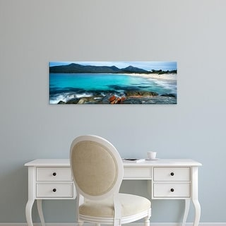 Easy Art Prints Panoramic Image 'Rocks, Wine Glass Beach, Freycinet National Park, Tasmania, Australia' Canvas Art