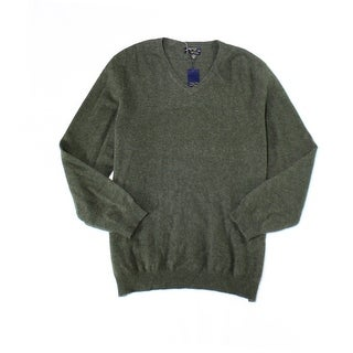 Club Room NEW Green Mens Size XL V-Neck Cashmere Pullover Sweater