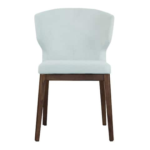 Cabo Mid-century Modern Chenille 21 inch Wingback Chair with Solid Wood