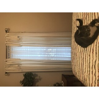 Exclusive Fabrics Solid Cotton Tie-Top Curtain