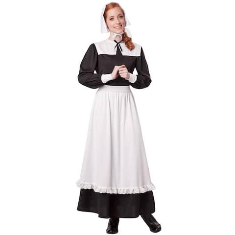 California Costumes Pilgrim Woman Settler Adult Costume