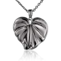 "Sterling Silver Anthurium Pendant 18"" Necklace"