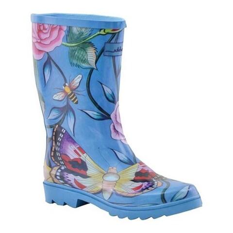 Anuschka Women's Mid-Calf Rain Boot Roses D'Amour Printed Rubber