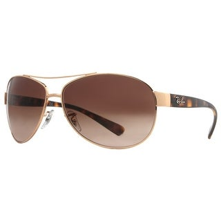 RAY-BAN Aviator RB 3386 Unisex 001/13 Gold/Havana Brown Brown Gradient Sunglasses - 63mm-13mm-130mm