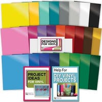 25 Assorted Vinyl Selection Sheets W/ Transfer Paper