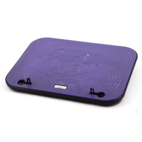 F3 Notebook Cooling Pad w Double Cooling Fans Purple for 14 15.6 Inch Laptop