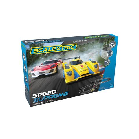 Scalextric Speed Supreme GT vs. LMP 1:32 Slot Car Race Track Set C1420T