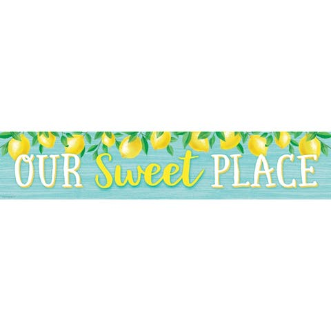 """Lemon Zest Our Sweet Place Banner, 8"""" x 39"""" - One Size"""