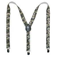CTM® Men's Elastic Urban Camouflage Clip-End Suspenders