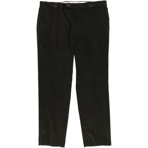 Ralph Lauren Mens Flat-Front Corduro Dress Pants Slacks, Green, 33W x 32L - 33W x 32L