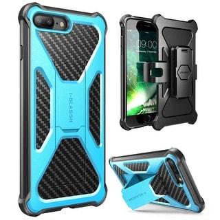 iPhone 7 Plus Case,i-Blason Transformer Case with Holster Cover Case with Clip-Blue