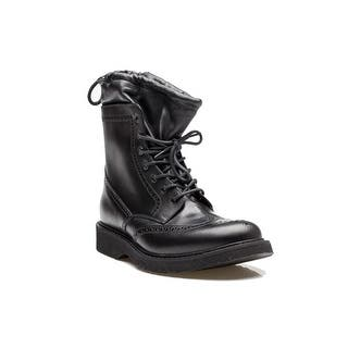 Prada Men's Leather Wingtip Lace Up Combat Boot Shoes Black|https://ak1.ostkcdn.com/images/products/is/images/direct/201335d624378bdfc5627f79dd85679e6316b3be/Prada-Men%27s-Leather-Wingtip-Lace-Up-Combat-Boot-Shoes-Black.jpg?impolicy=medium