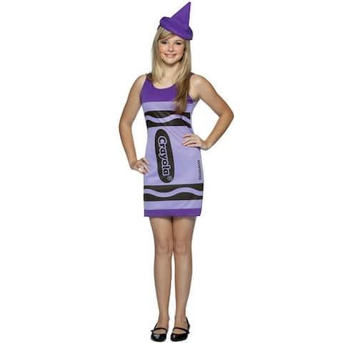 Rasta Imposta Crayola Wisteria Tank Dress Teen Costume - Solid