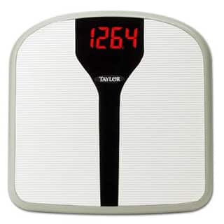 Taylor Super Brite Electronic Digital Bath Scale - White|https://ak1.ostkcdn.com/images/products/is/images/direct/20142a2b930031b39c16f0591b79d8f2c4aad25d/Taylor-Super-Brite-Electronic-Digital-Bath-Scale---White.jpg?impolicy=medium