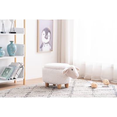 Shiloh the Sheep Storage Upholstered Kids Ottoman