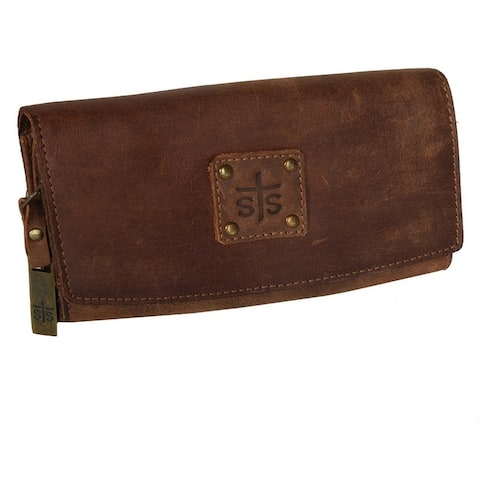 """StS Ranchwear Western Wallet Womens Baroness Trifold Brown - 7"""" W x 4"""" T"""
