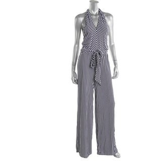 Lauren Ralph Lauren Womens Jumpsuit Matte Jersey Striped