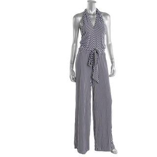 Lauren Ralph Lauren Womens Jumpsuit Matte Jersey Striped