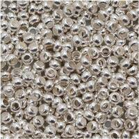 Genuine Metal Seed Beads 11/0 Silver Plated 16 Grams