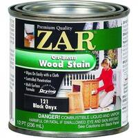 ZAR 12106 Interior Oil-Based Wood Stain, Black Onyx, 1/2 Pint