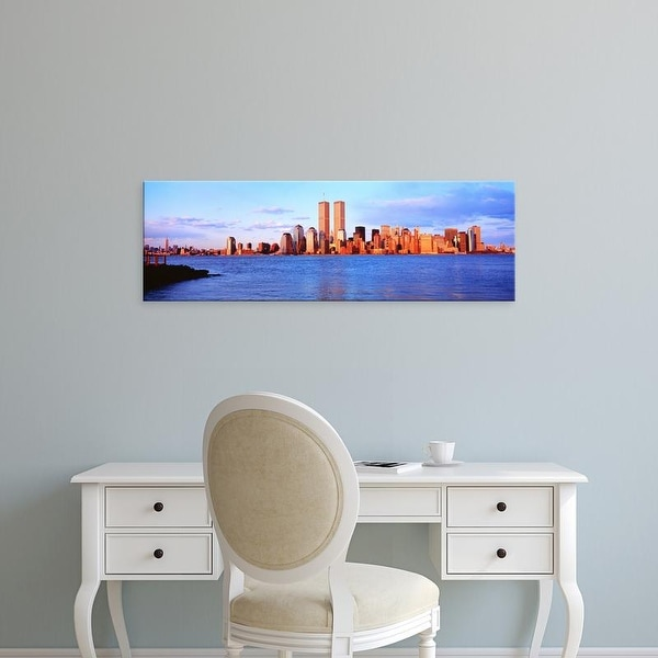 Easy Art Prints Panoramic Images's 'USA, New York City, skyline with World Trade Center' Premium Canvas Art