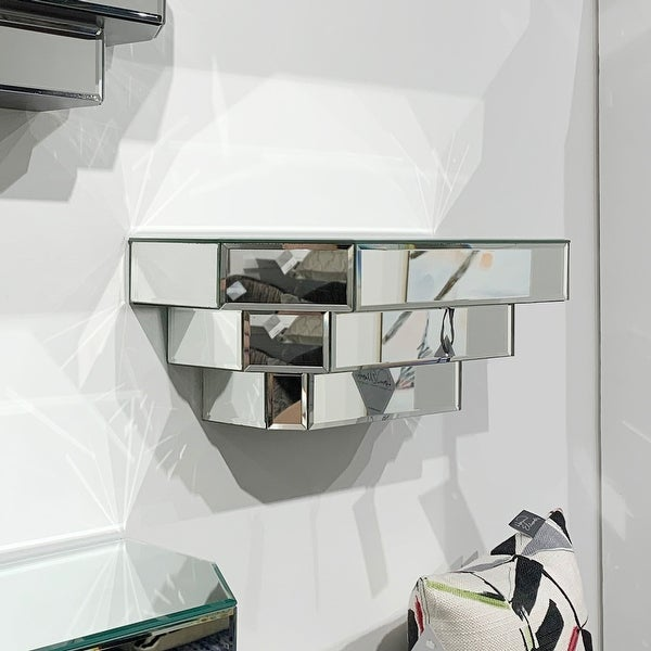 Floating Mirrored Wall Shelf. Opens flyout.