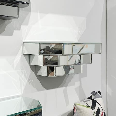 Floating Mirrored Wall Shelf