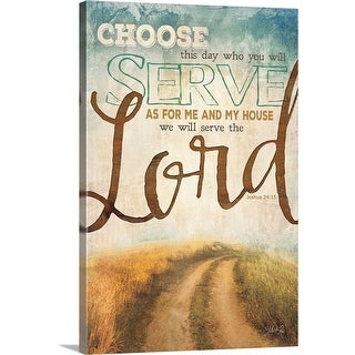 """Serve the Lord"" Canvas Wall Art"