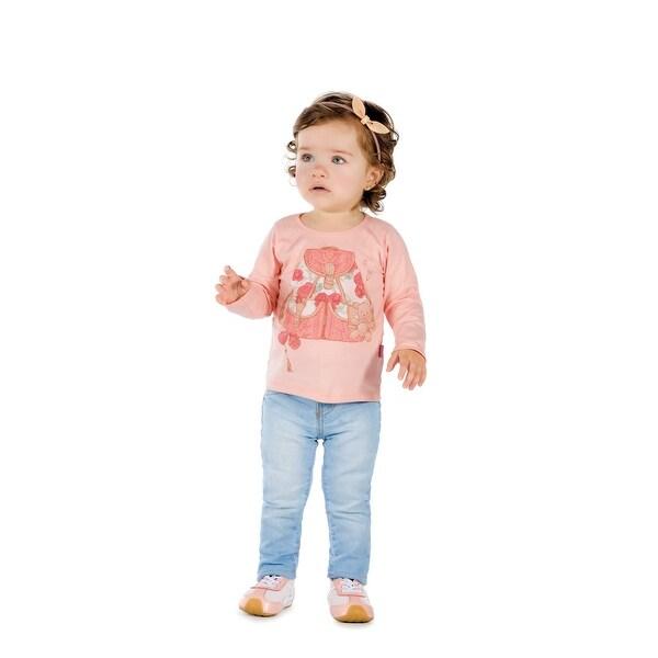 Pulla Bulla Baby Girl Graphic Tee Long Sleeve Shirt