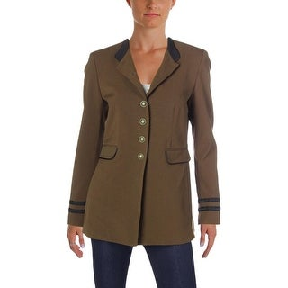 Nine West Womens Blazer Piping Office Wear