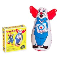 "Bozo The Clown Inflatable 7"" Bozo Finger Bop Punching Bag"