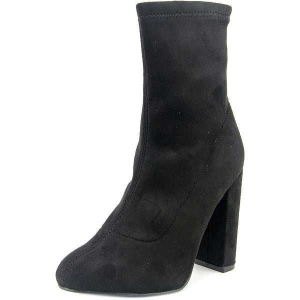 LFL Macey Women Round Toe Synthetic Black Mid Calf Boot