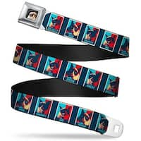 Grumpy Cat Face Full Color Black Grumpy Cat Mood Blocks Blue White Red Seatbelt Belt