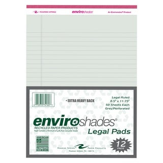 Roaring Spring Enviroshades Legal Pads, 8-1/2 x 11 Inches, Gray, Pack of 12