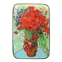Women's Fine Art Identity Protection RFID Wallet - Poppy Vase - Medium