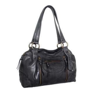 Nino Bossi Women S Francisca Leather Satchel Black Us One Size