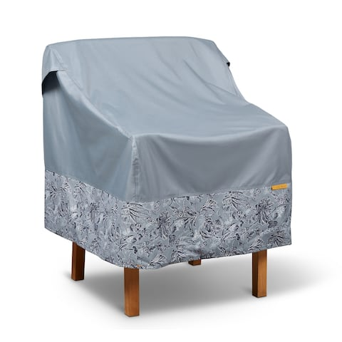 Vera Bradley by Classic Accessories Water-Resistant Patio Chair Cover, 26 x 29 x 27 Inch, Rain Forest Toile Gray