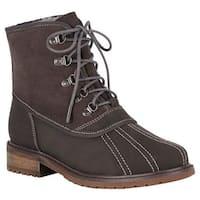 EMU Women's Utah Waterproof Duck Boot Charcoal Leather