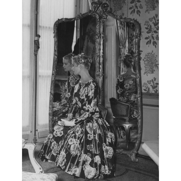 fb5aa3d15c Grace Kelly beside a mirror Photo Print