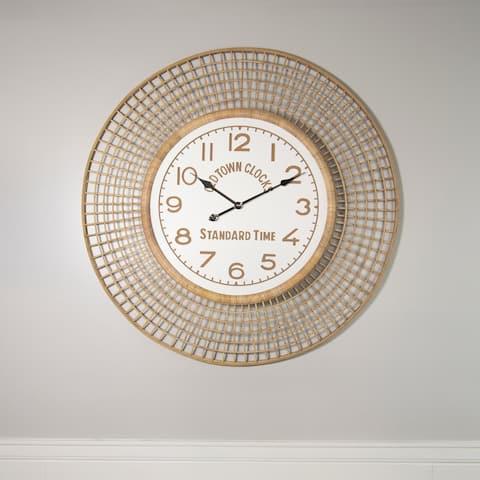 39 inch -Bamboo Wall Clock - 2.25 x 39.5 x 39.5