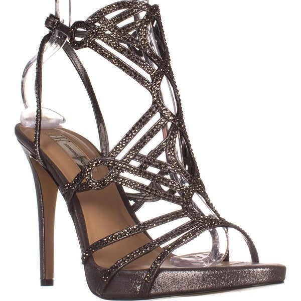 I35 Surrie Evening Dress Sandals, Pewter