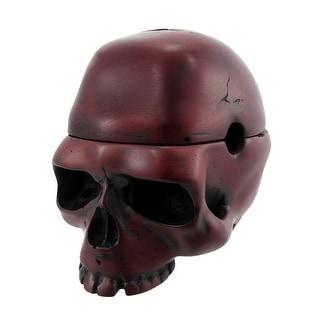 Dark Red Skull Trinket Box Ashtray