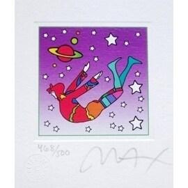 "Cosmic Flyer in Space, Ltd Ed Litho (Mini 3.5"" x 3""), Peter Max"