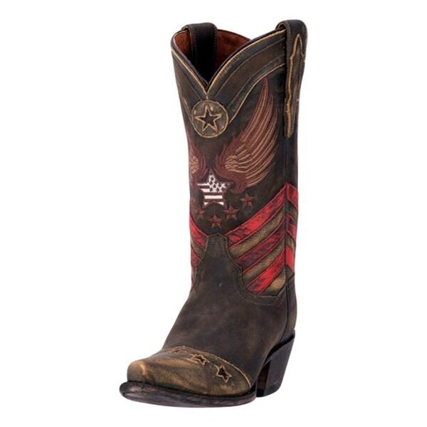 """Dan Post Western Boot Women 12"""" N'Dependence Orthotic Brown"""